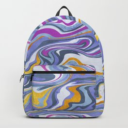 Rainbow gemstone slice // gold purple and ultra violet Backpack