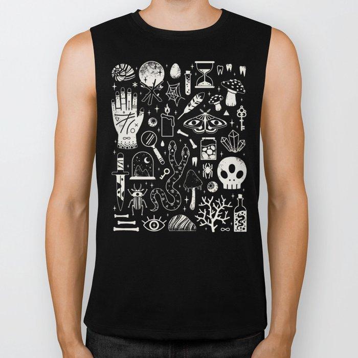 Curiosities: Bone Black Biker Tank