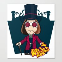 willy wonka Canvas Prints featuring Willy Wonka by 7pk2 online