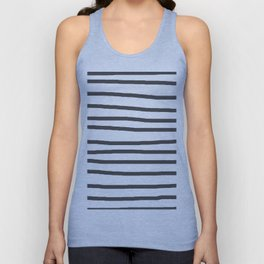 Simply Drawn Stripes in Simply Gray Unisex Tank Top