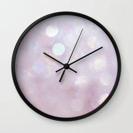 Bokeh Series - English Lavender Wall Clock