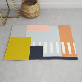 Carson Abstract Geometric Print in Multi Rug