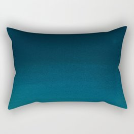 Navy blue teal hand painted watercolor paint ombre Rectangular Pillow