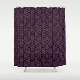 Halloween Damask Violet (Old Version) Shower Curtain