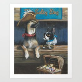 Salty Dogs Art Print