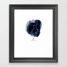 Zodiac Star Constellation - Virgo Framed Art Print