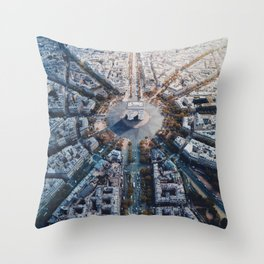 Arc De Triomphe, Paris Throw Pillow