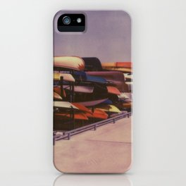 Canoes at Harbourfront iPhone Case