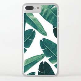Banana Leaves - Cali Vibes #2 #tropical #decor #art #society6 Clear iPhone Case