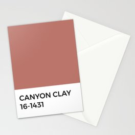 Canyon Clay Pantone Chip • Pink • Red • Warm Tones • Neutral • Earth Day • Nature • West Coast  Stationery Cards