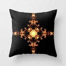 Fire Cross Throw Pillow