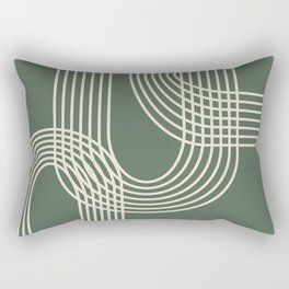 Minimalist Lines in Forest Green Rectangular Pillow