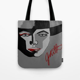 Red Strokes Tote Bag