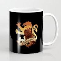 gryffindor Mugs featuring Gryffindor by Markusian