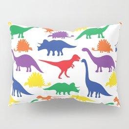 Dinosaurs - White Pillow Sham