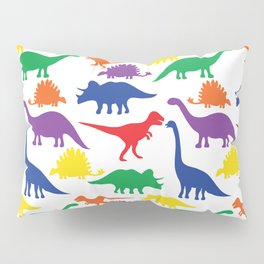Dinosaurs - White Pillow Sham