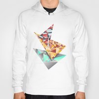 rush Hoodies featuring Triangle Rush! by Hungry Design