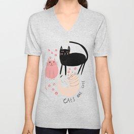 Living wiht cats Unisex V-Neck