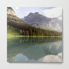 Mountain Lake Landscape Metal Print
