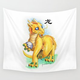 Chinese Zodiac Year of the Dragon Wall Tapestry
