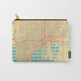Tampa Map Retro Carry-All Pouch