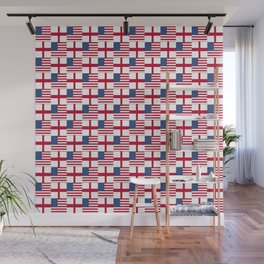 Mix of flag : Usa and england Wall Mural