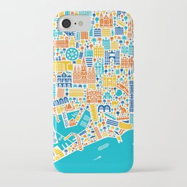 Vianina Barcelona City Map Poster iPhone Case