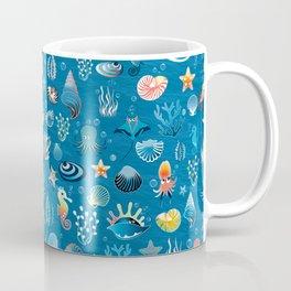 playful sea life pattern Coffee Mug
