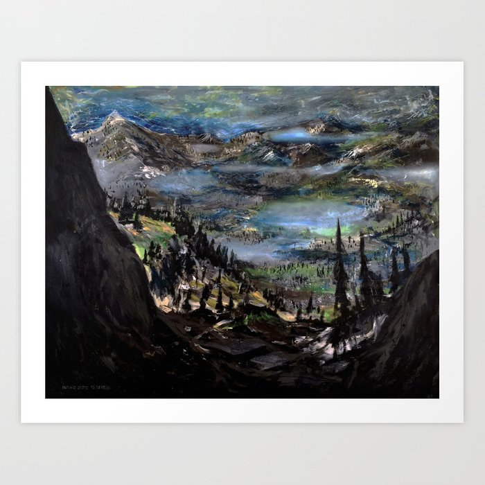 Just Another Landscape (oil on canvas) Art Print