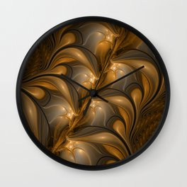 Warming, Luminous Abstract Fractal Art Wall Clock