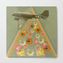 in my world, flowers come out of army planes Metal Print