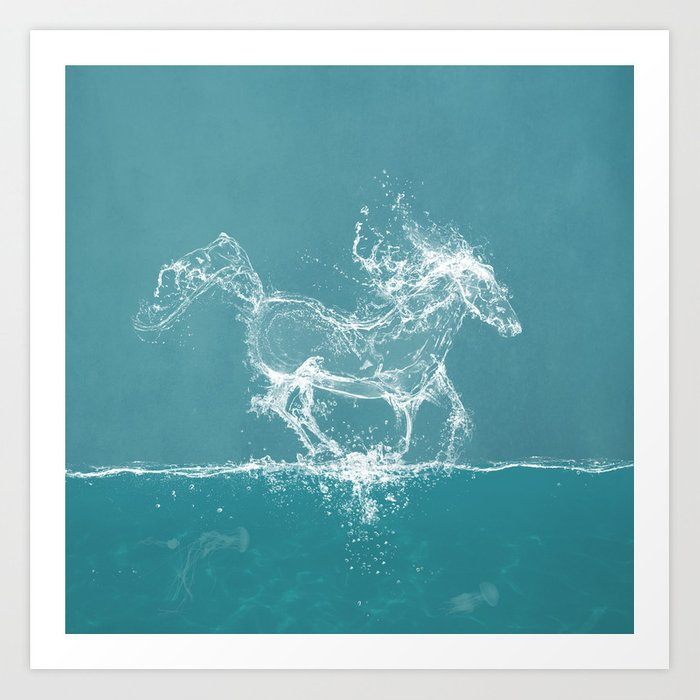 The Water Horse Art Print