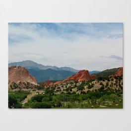 Garden of the Gods in Colorado Springs Canvas Print