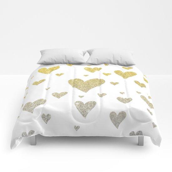 Glitter Hearts Comforters