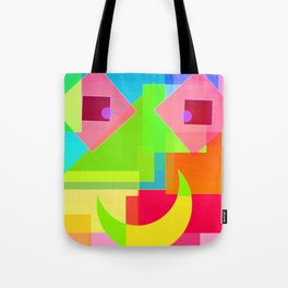 Abstract Geometry Face Tote Bag