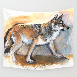 Totem Chinese Tibetan Wolf Wall Tapestry