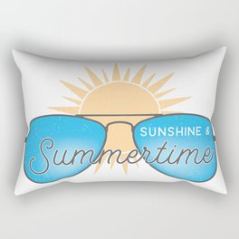 Sunshine & Summer Time Rectangular Pillow