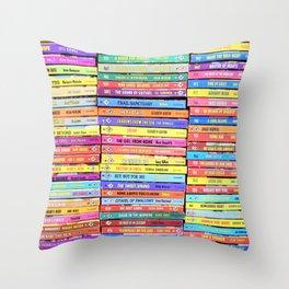 Bookworm - Vintage Harlequin Romance Throw Pillow