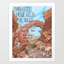 Mark Eitzel/Howe Gelb/AL Riggs Concert Poster Art Print