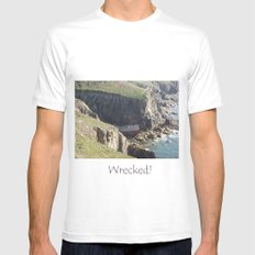 Wrecked Mens Fitted Tee MEDIUM White