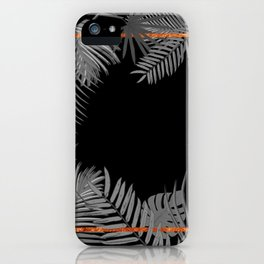 TROPICAL SQUARE COPPER BLACK AND GRAY iPhone Case