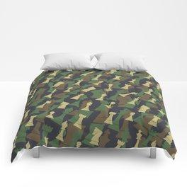 Chess Camo WOODLAND Comforters
