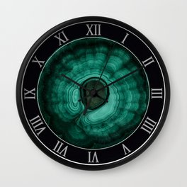 Earth treasures - Malachite Wall Clock