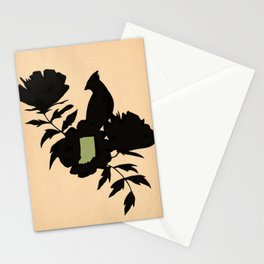 Indiana - State Papercut Print Stationery Cards