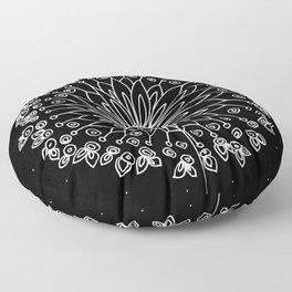 White Dandelion Floor Pillow