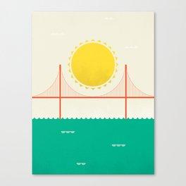 Sunny SF Canvas Print