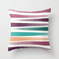the strokes Throw Pillows featuring Brush strokes by eDrawings38