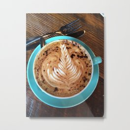 Coffee Art Metal Print