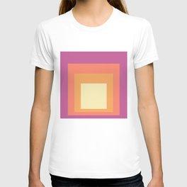 Block Colors - Pink Orange Cream T-shirt
