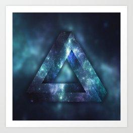Infinite Triangle (Galaxy) Art Print
